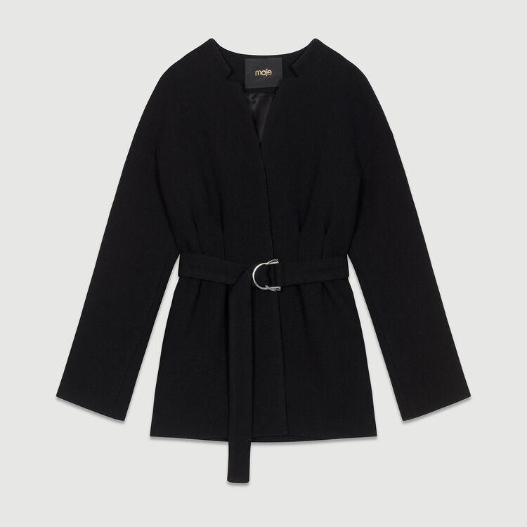 Manteau court avec ceinture : Manteaux couleur Black