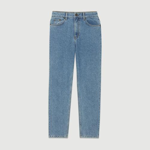 Jean taille haute : Pantalons & Jeans couleur BLEU