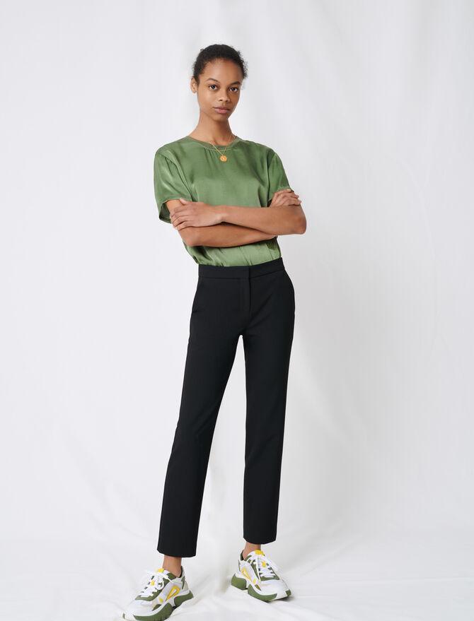 Pantalon de tailleur en twill stretch - Pantalons & Jeans - MAJE
