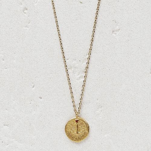 """Collier avec médaillon """"Mon ancre"""" : Bijoux couleur OR"""