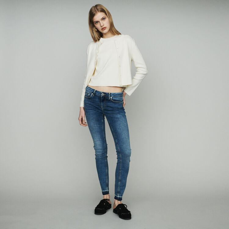 Jean slim en coton stretch : Jeans couleur Denim