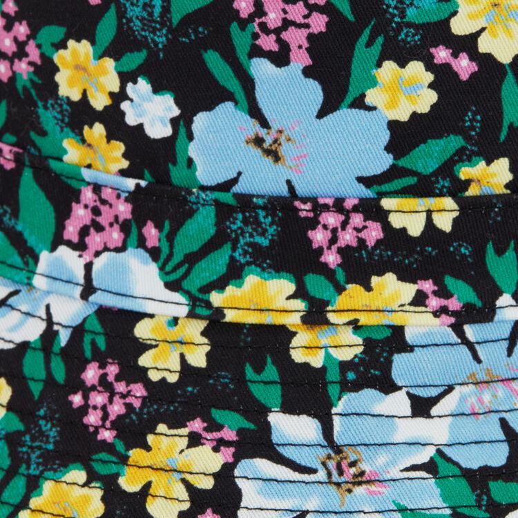 Bob en coton imprimé fleuri : Châles & Ponchos couleur BLANC