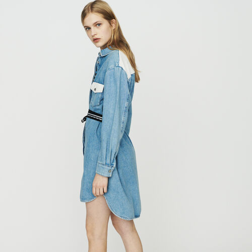 Robe-chemise en jean : Robes couleur Denim