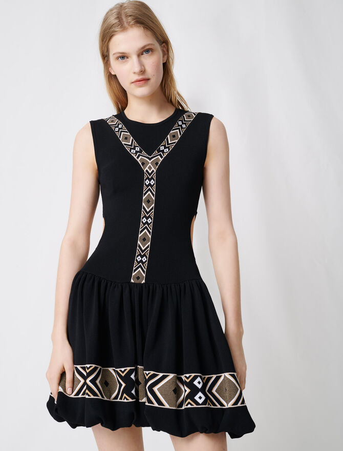Robe patineuse en maille noire - Robes - MAJE