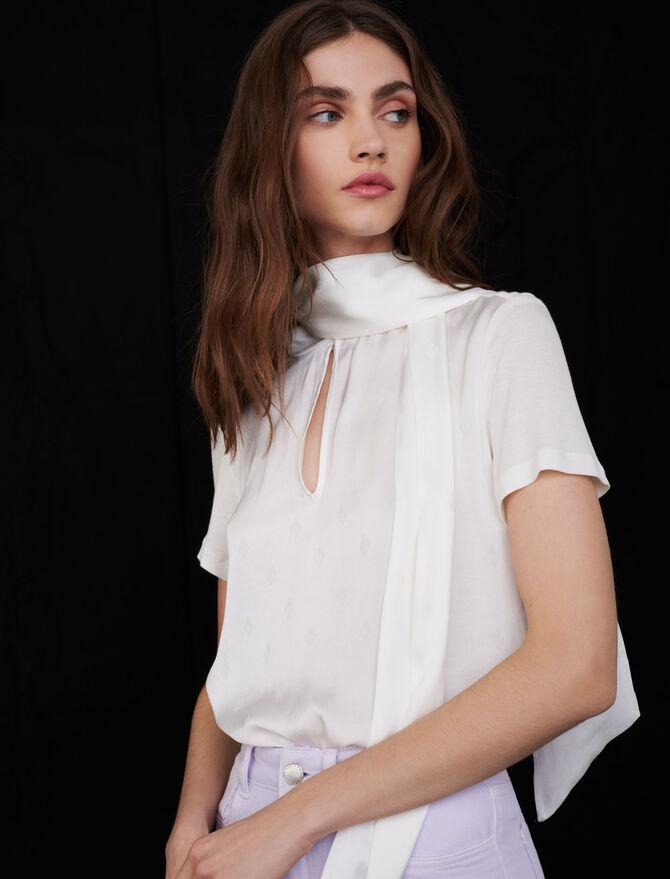 Tee-shirt en satin à monogramme Maje - Tops & Chemises - MAJE