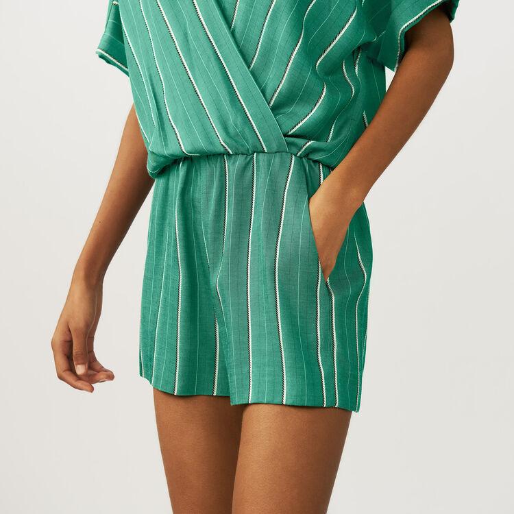 Combi-short à rayures : Combinaisons couleur Rayure