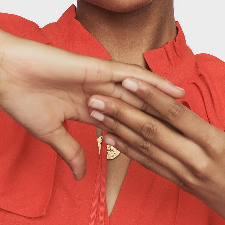 Robe sans manches en crêpe : Robes couleur ROUGE