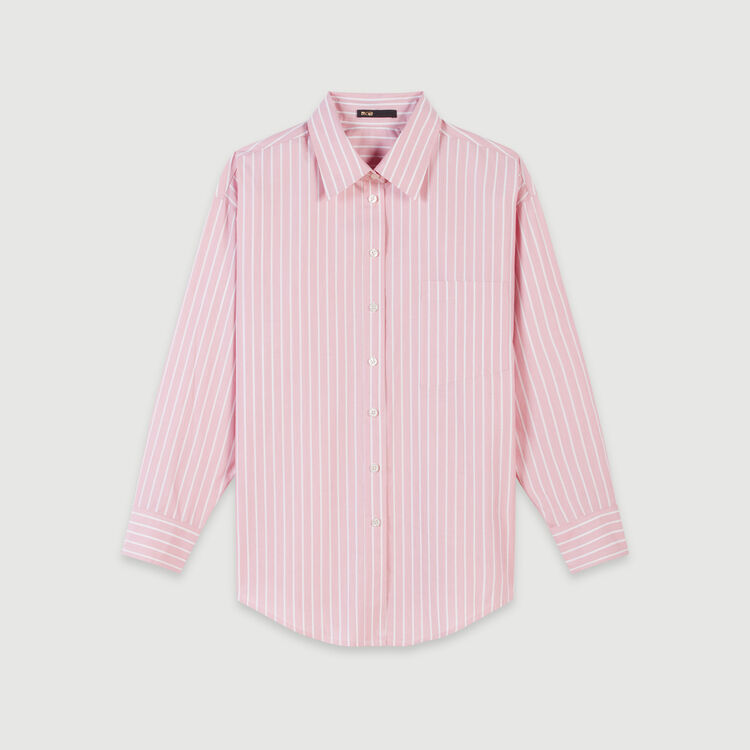 Chemise oversize rayée : Tops & Chemises couleur Rose