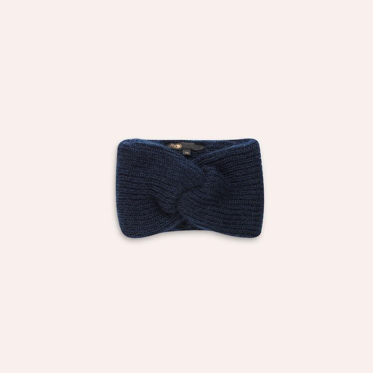 Bandeau en laine mélangée : Autres accessoires couleur Marine