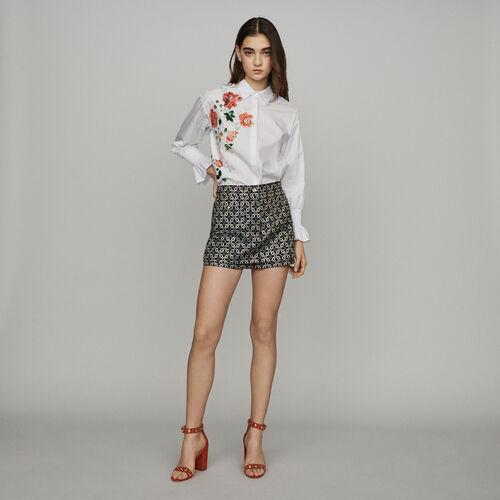 Short trompe-l'œil en jacquard : Jupes & Shorts couleur Jacquard