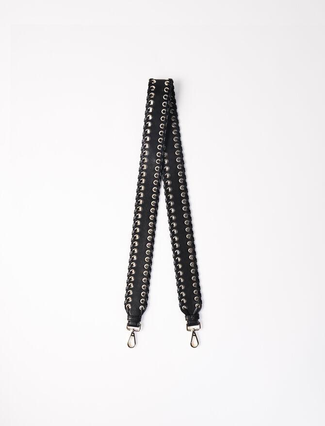 Bandoulière amovible en cuir à œillets - Autres accessoires - MAJE