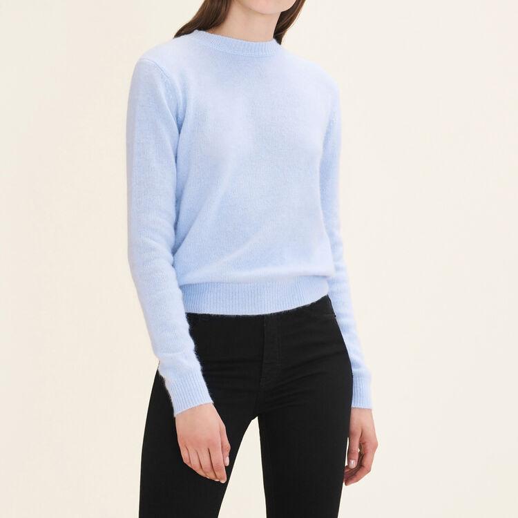 Pull angora à dos nu : Pulls & Cardigans couleur Bleu Ciel