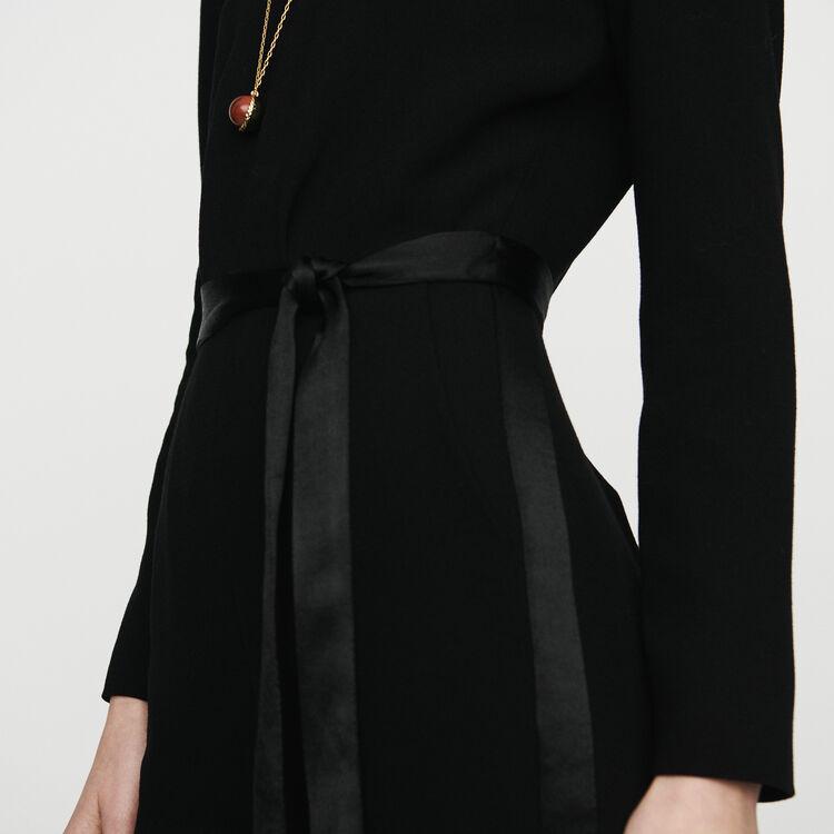 Combinaison-pantalon en crêpe : Pantalons & Jeans couleur Black