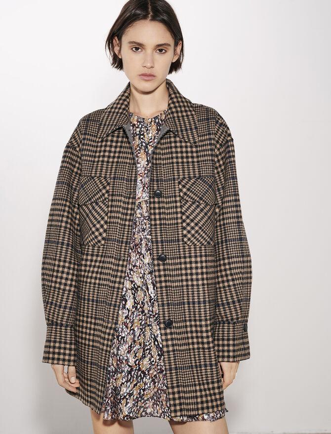 Manteau en double face à carreaux - Manteaux & Blousons - MAJE