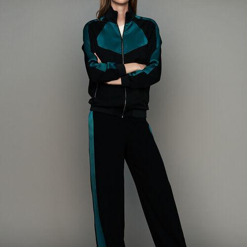 Veste esprit sportswear bicolore : Vestes couleur Black