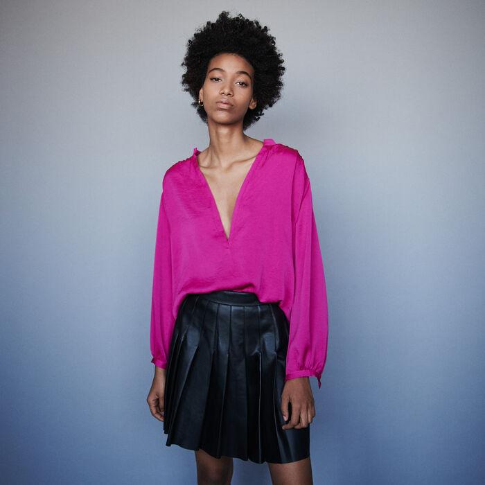 Top en satin : Tops & Chemises couleur Rose