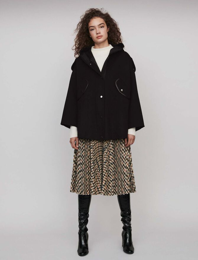 Manteau façon cape en double face - Midseason-Sales_UK_30% - MAJE