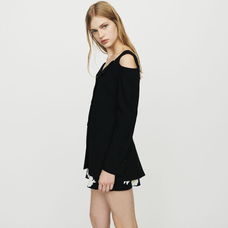 Veste à épaules dénudées : Vestes couleur Black