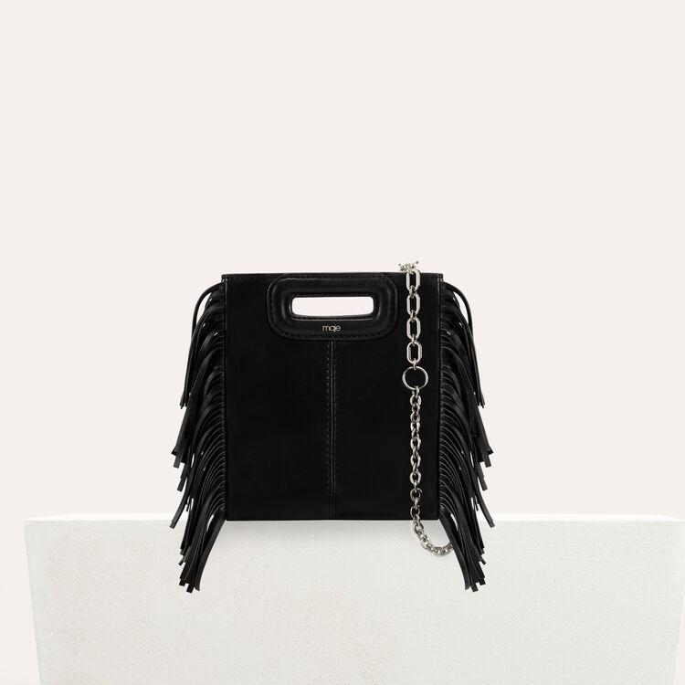Sac M Mini en cuir avec chaîne : M Mini couleur Black