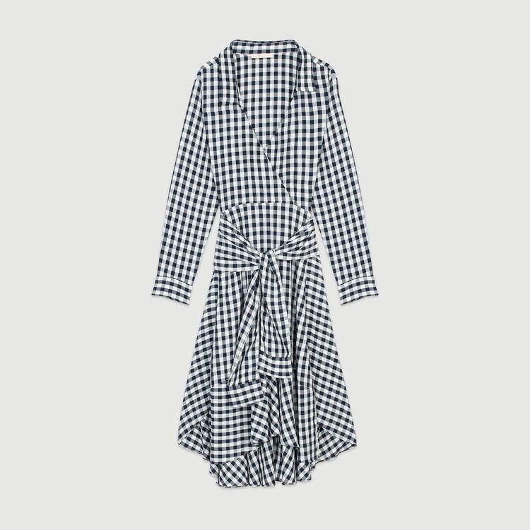Robe-chemise à imprimé vichy : Robes couleur CARREAUX