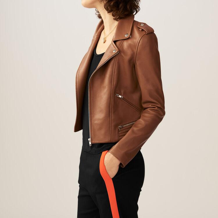 Blouson en cuir : Blousons couleur Camel