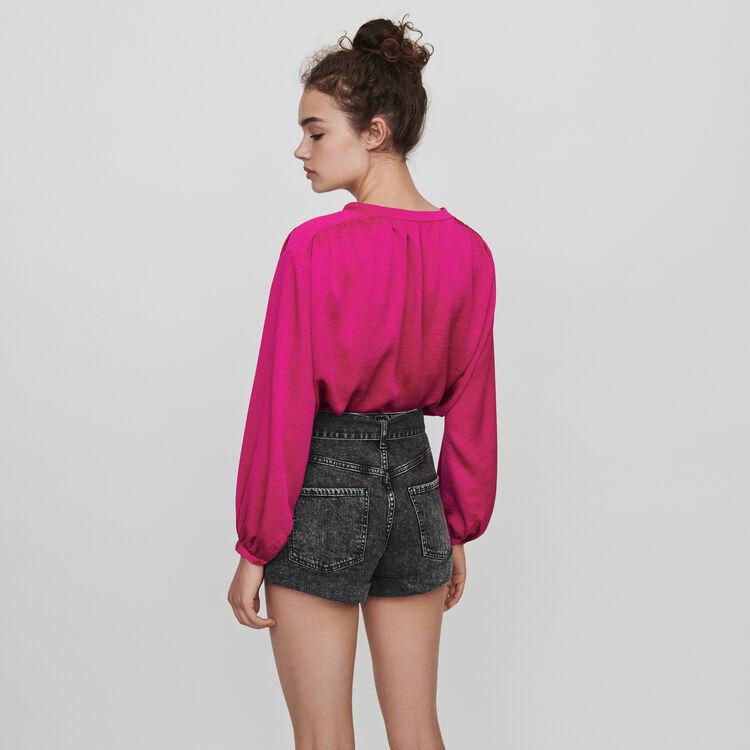 Short délavé ceinturé : Jupes & Shorts couleur Anthracite