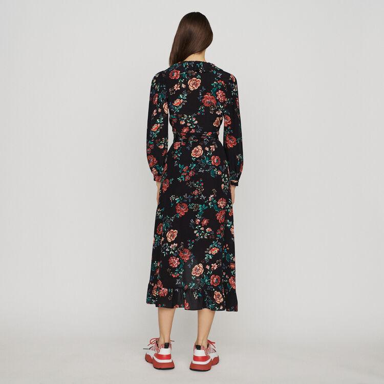 Robe longue cache-cœur imprimée : Robes couleur IMPRIME