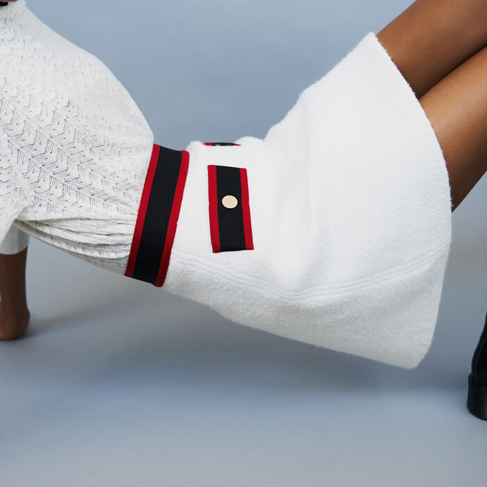 Jupe courte en tweed : Jupes & Shorts couleur ECRU