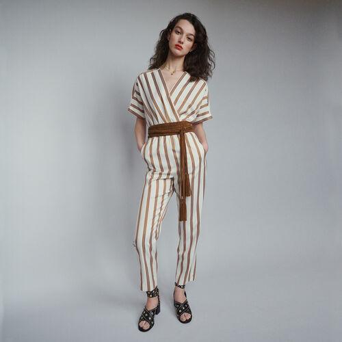 Combi-pantalon à rayures : Pantalons couleur Rayure