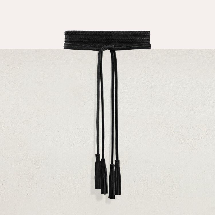 Ceinture taille haute en suède : Nouvelle Collection couleur Black