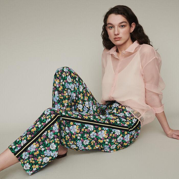 Pantalon jogging à imprimé floral : Pantalons & Jeans couleur Imprime