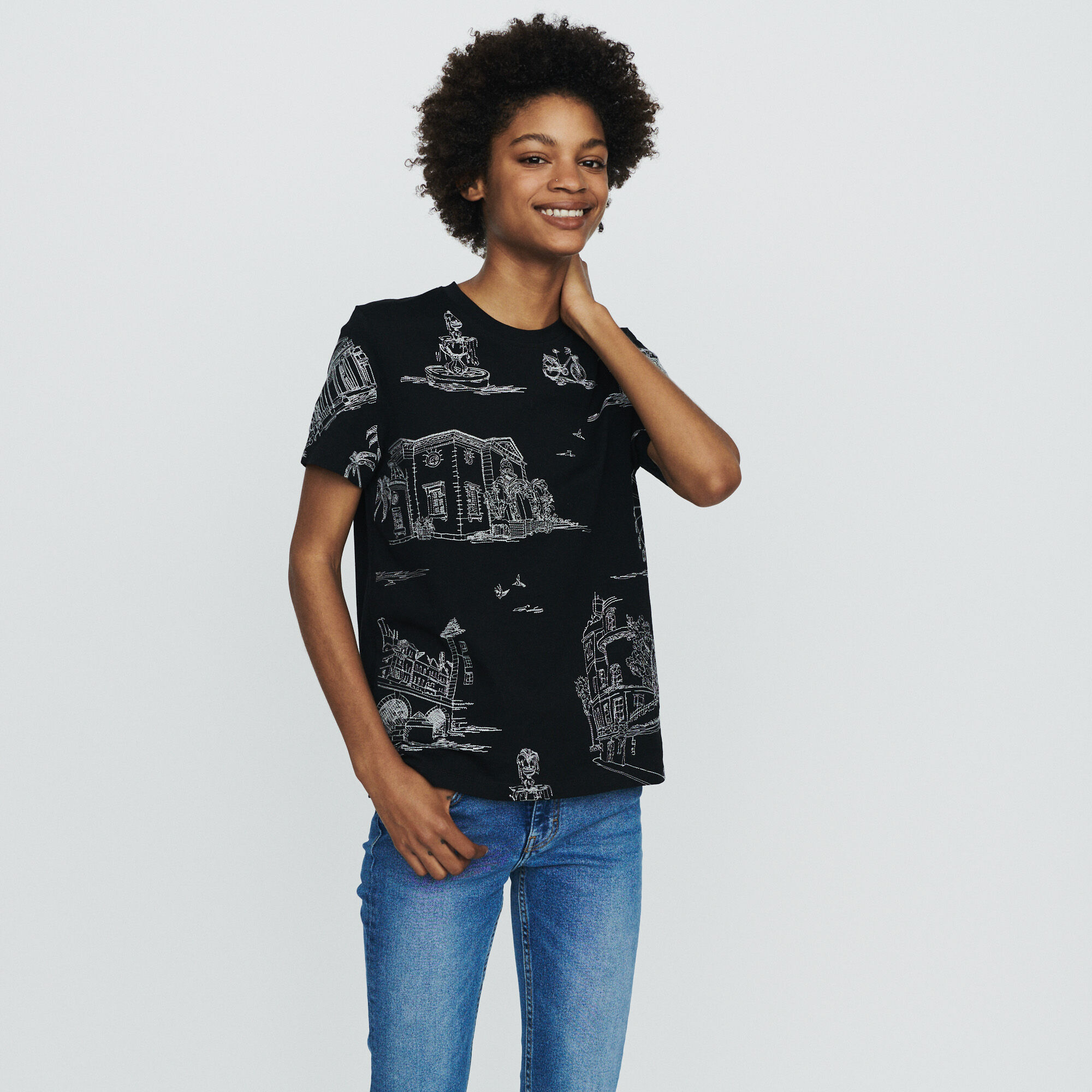 Paris All Over Broderies T Tee À Maje Toulouse Shirt Shirts HqgFwIW