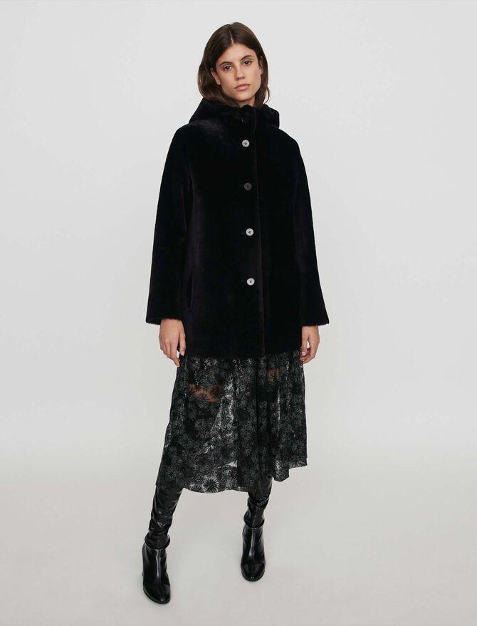Peau lainée réversible à capuche - Toute la collection - MAJE