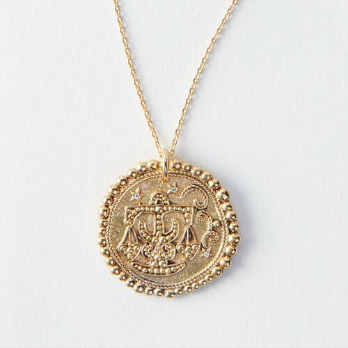 Collier Balance signe du zodiaque : Tous les accessoires couleur Vieux Laiton