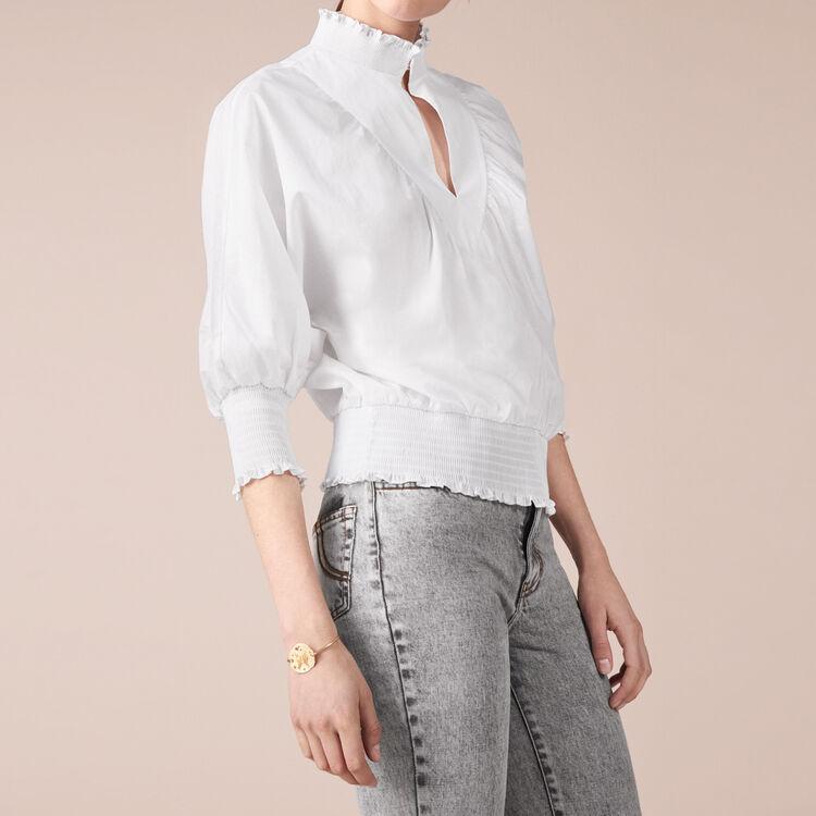 Blouse en coton - Tops & Chemises - MAJE