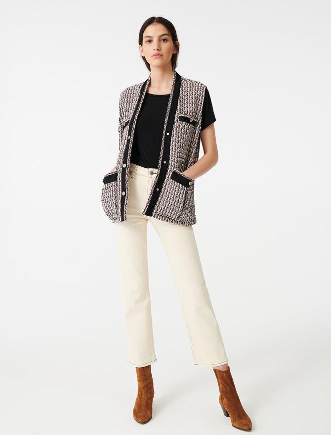 Veste sans manche façon tweed avec lurex - Vestes - MAJE