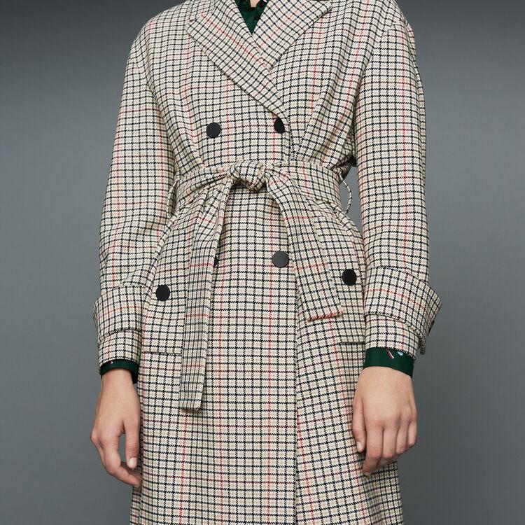Manteau droit à carreaux : Manteaux couleur CARREAUX