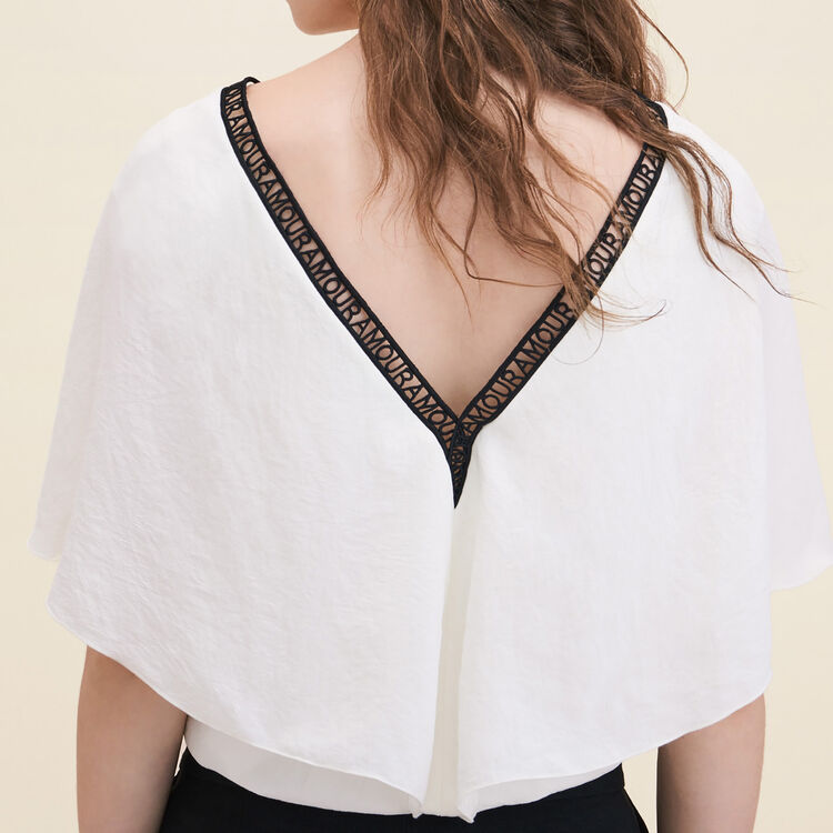 Top loose en crêpe - Tops - MAJE