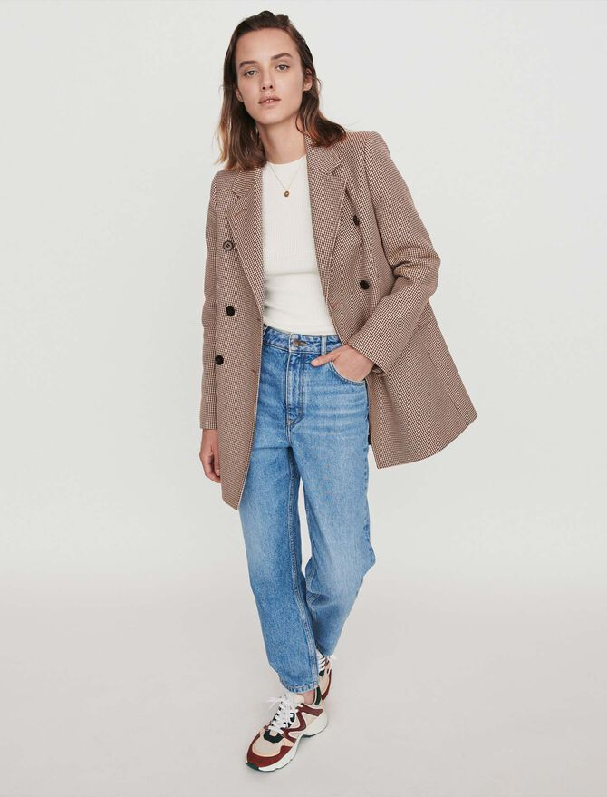 Manteau façon veste à carreaux - Blousons & Vestes - MAJE