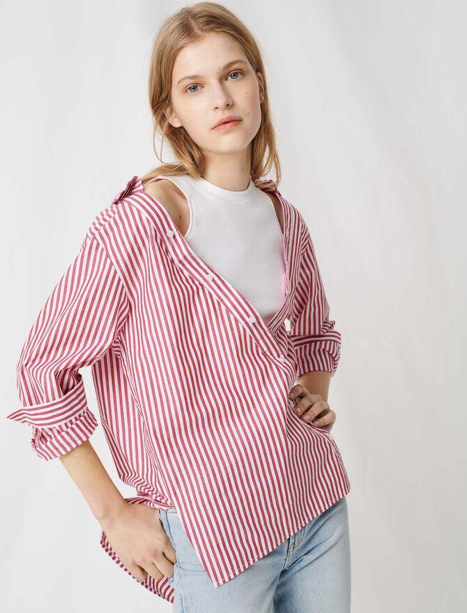 Top à manches courtes façon foulard - Tops & Chemises - MAJE