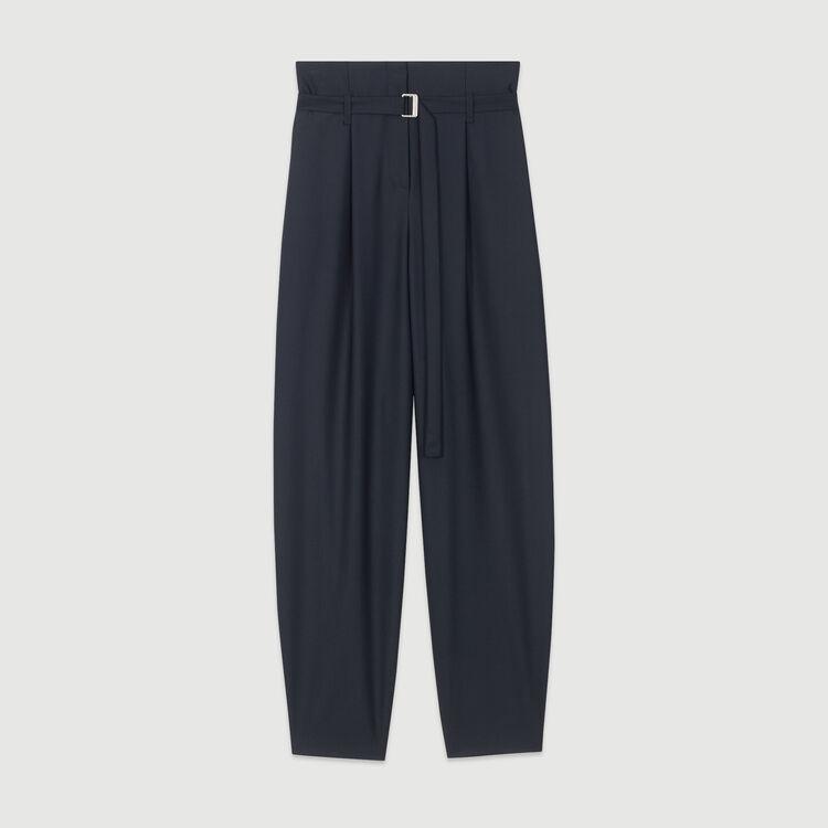 Pantalon large : Pantalons & Jeans couleur Marine