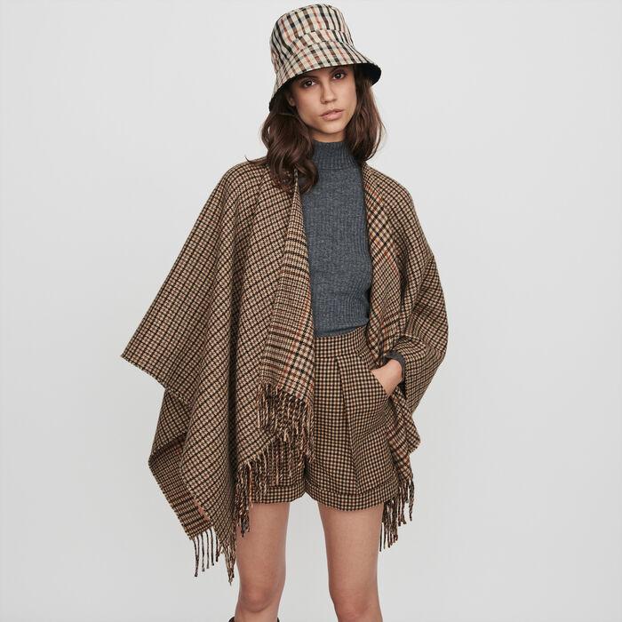 Poncho en laine mélangée : Collection hiver couleur Multico