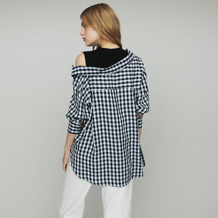 Chemise trompe-l'œil à imprimé vichy : Tops & Chemises couleur CARREAUX