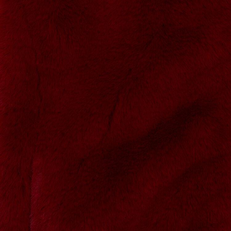 Blouson court en fausse fourrure : Blousons couleur Framboise