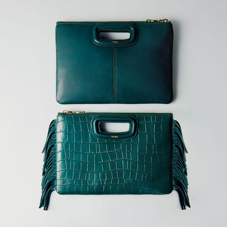 Pochette M Duo en cuir embossé crocodile : M Duo couleur VERT
