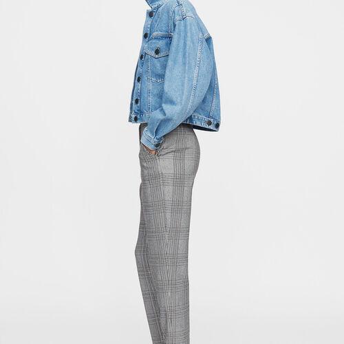 Pantalon droit : Pantalons couleur CARREAUX