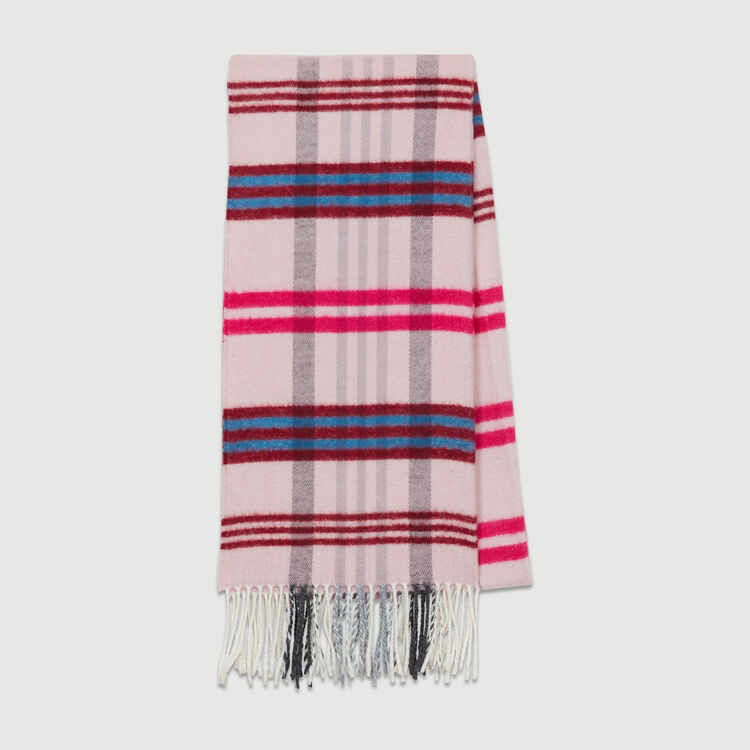 Echarpe à motif carreaux : Châles & Ponchos couleur BORDEAUX