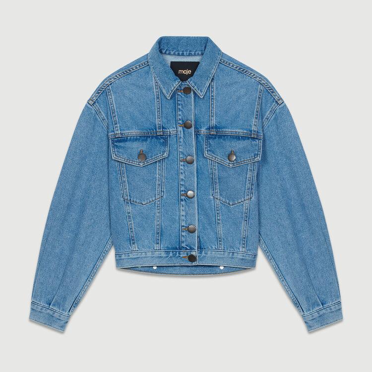 Veste courte en jean : Blousons couleur Denim