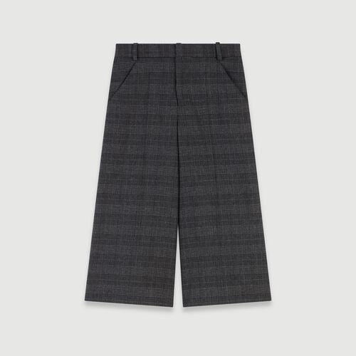 Short façon bermuda à carreaux : Jupes & Shorts couleur Gris