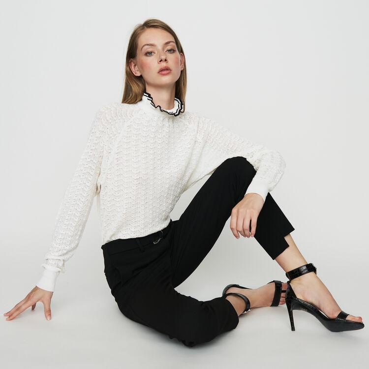 Pantalon coupe droite : Pantalons couleur Black